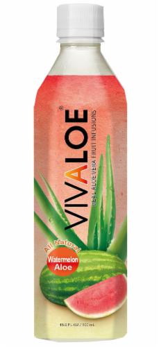 Vivaloe Watermelon Aloe Beverage Perspective: front