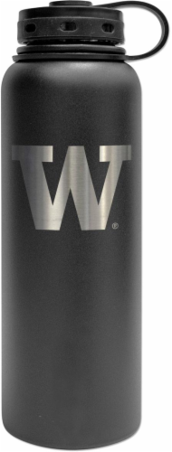 Fifty/Fifty Double-Wall Vacuum Insulated U of W Water Bottle Perspective: front
