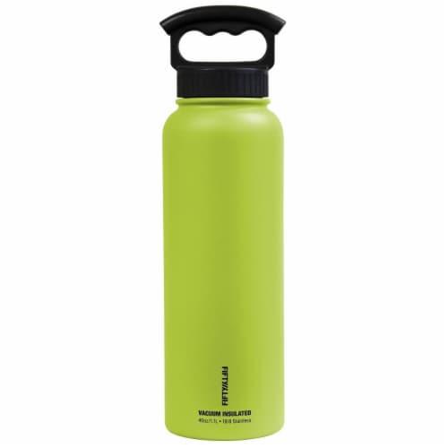 Icy-Hot Hydration V40006LM0 40 oz VI Bottle-3 Finger Grip Lid  Lime Green Perspective: front