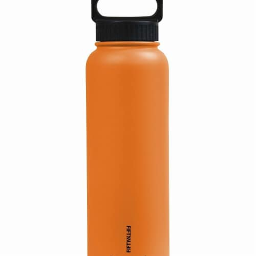 Icy-Hot Hydration V40006OR0 40 oz Olive Green Vacuum Insulated Bottle - 3 Finger Grip Lid Perspective: front