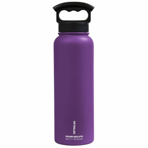 Icy-Hot Hydration V40006PU0 40 oz Royal Purple Vacuum Insulated Bottle - 3 Finger Grip Lid Perspective: front