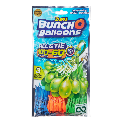 Zuru Bunch O Balloons Self-Sealing Water Balloons 100 Count - Assorted Perspective: front