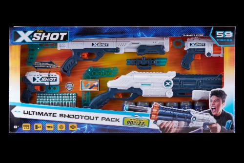 Zuru X-Shot Excel Ultimate Shootout Nerf Playset Perspective: front