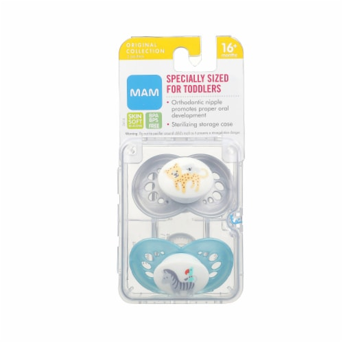 MAM Silicone Toddler Pacifiers Perspective: front
