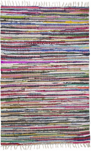 Feizy Bolo Chindi Accent Rug - Multi-Color Perspective: front