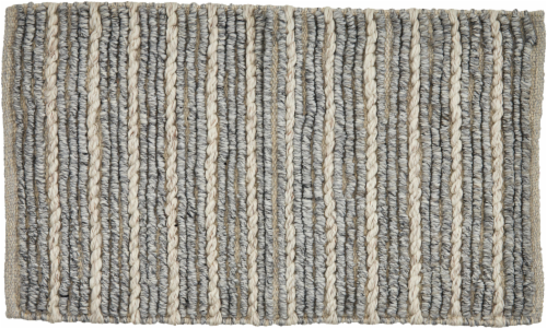Feizy Brady Accent Rug - Gray Perspective: front