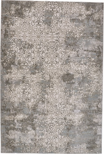 Feizy Prasad Area Rug - Silver Perspective: front