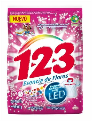 123 Esencia De Flores Powder Detergent Perspective: front