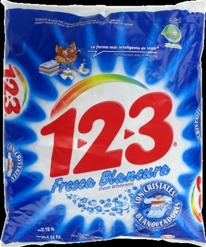 123 Fresca Blancura Laundry Detergent Powder Perspective: front