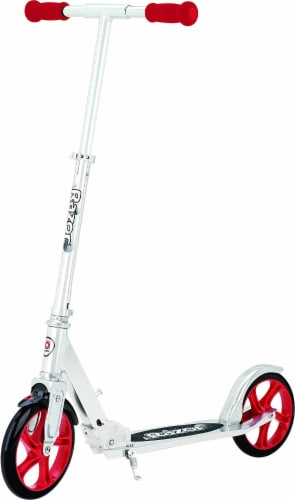 Razor® A5 Lux Kick Scooter - Red/Silver Perspective: front