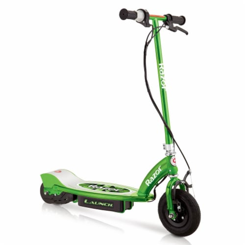 Razor E100 Kids Ride On 24V Motorized Powered Electric Scooter Toy, Green Perspective: front