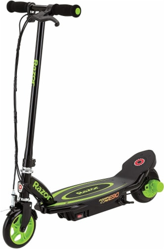 Razor Power Core E90 Electric Scooter - Green/Black Perspective: front
