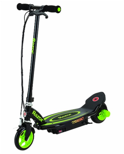 Razor® Green Power Core E90 Electric Scooter Perspective: front