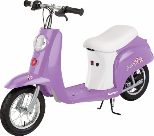 Razor® Purple Betty Pocket Mod Electric Scooter Perspective: front