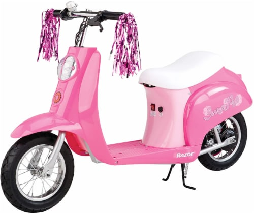 Razor® Pink Sweet Pea Pocket Mod Electric Scooter Perspective: front