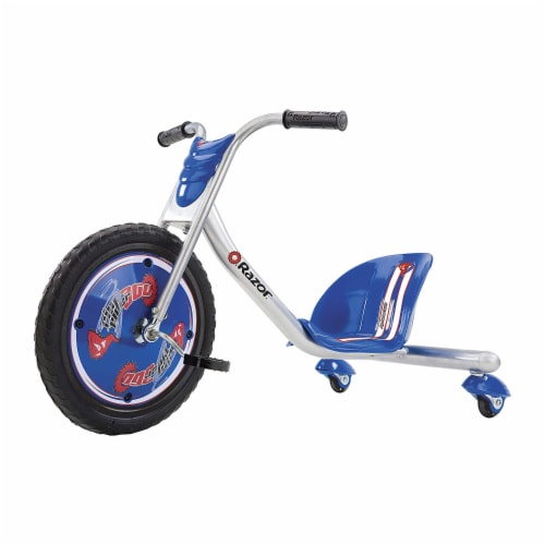 Razor Rip Rider 360 Drifting Ride On Big Wheel Tricycle, Kids Ages 5 & Up, Blue Perspective: front