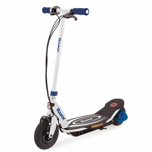 Razor Power Core E100 Kids Ride On Motorized Electric Powered Scooter Toy, Blue Perspective: front