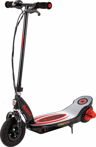 Razor® Red Power Core E100 Electric Scooter Perspective: front