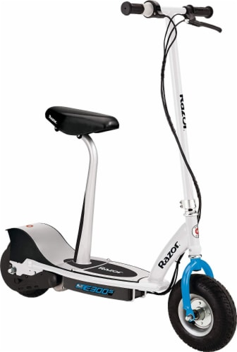 Razor® Black/White E300S Electric Scooter Perspective: front