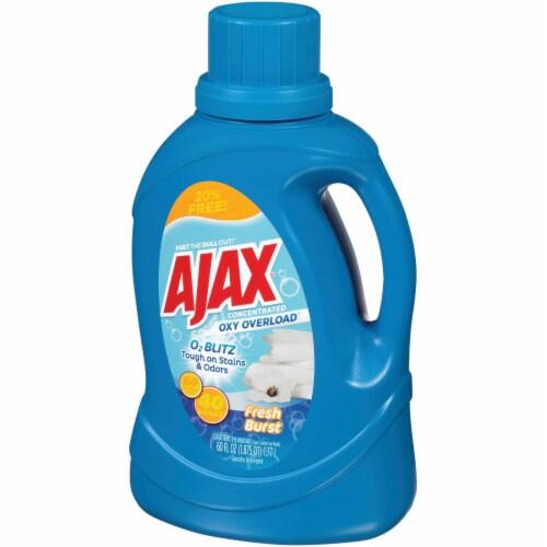 Ajax Oxy Overload 60 Oz. 40 Load Fresh Burst Liquid Laundry Detergent AJAXX37 Perspective: front
