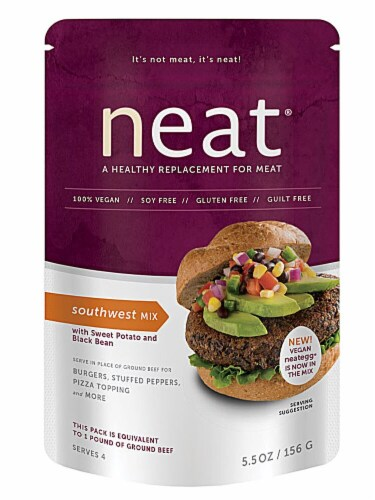Neat Foods  Vegan Meat Replacement   Southwest Mix Perspective: front