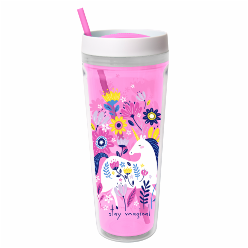 Cool Gear Printed Callisto Chiller Unicorn Thermal Beverageware Perspective: front
