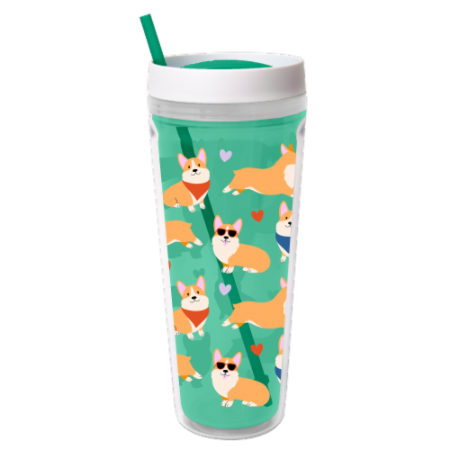 Cool Gear Printed Callisto Chiller Corgis Thermal Beverageware Perspective: front