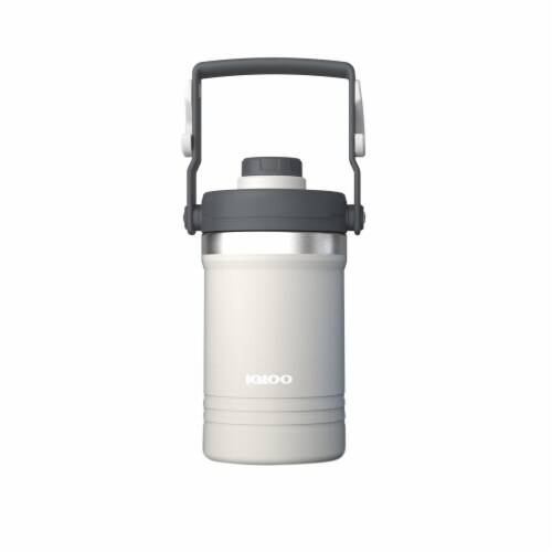 Igloo Carry Handle Jug - White/Gray Perspective: front