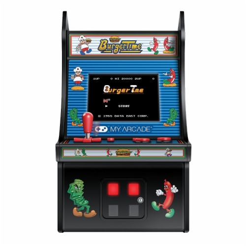 DreamGear DG-DGUNL-3203 6 in. Retro Burgertime Micro Arcade Perspective: front