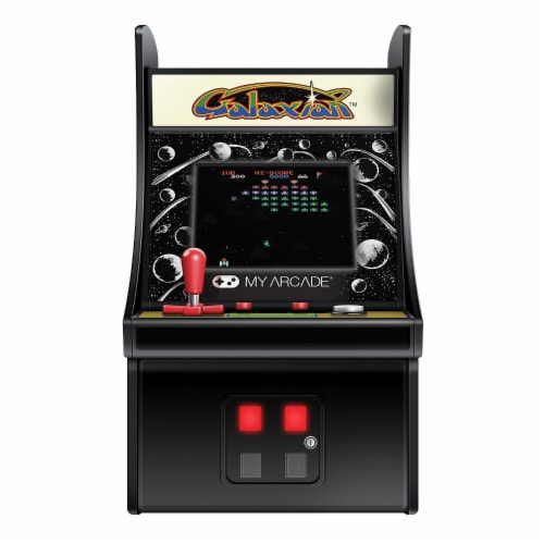 DreamGear DG-DGUNL-3223 6 in. Collectible Retro Galaxian Micro Play Perspective: front