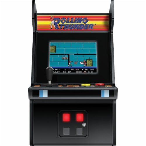DreamGear DG-DGUNL-3225 6 in. Collectible Retro Rolling Thunder Micro Player Perspective: front