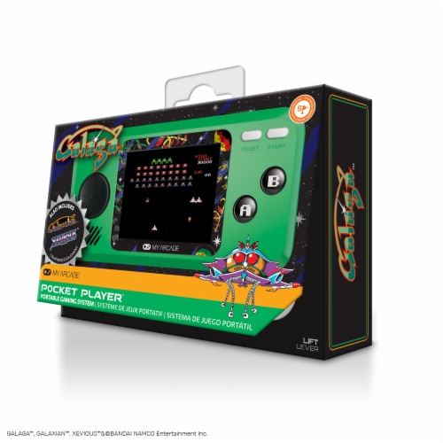 dreamGEAR My Arcade Galaga Pocket Player Perspective: front