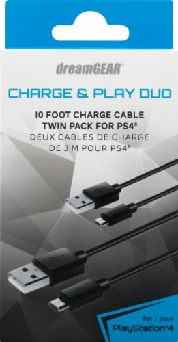 Dreamgear PlayStation 4 Charge & Play Duo Perspective: front