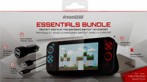 dreamGEAR Nintendo Switch Console Essentials Bundle Perspective: front