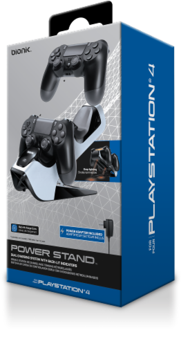 Bionik® Power Stand Dual Controller Charging System for PlayStation 4 Perspective: front