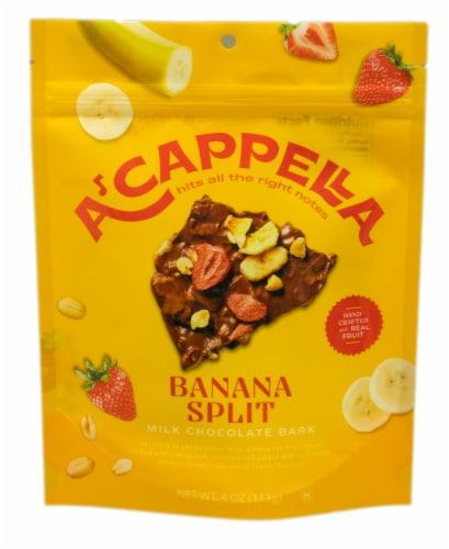 A'cappella Chocolate Banana Split Milk Chocolate Bark Perspective: front
