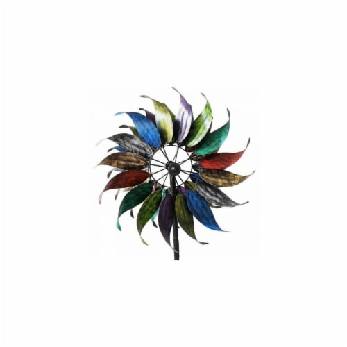 Summerfield Terrace 10018662 84 in. Rainbow Windmill Garden Stake Perspective: front