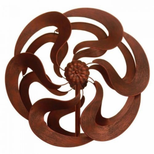 Summerfield Terrace 10018665 75 in. Bronze Flower Windmill Stake Perspective: front
