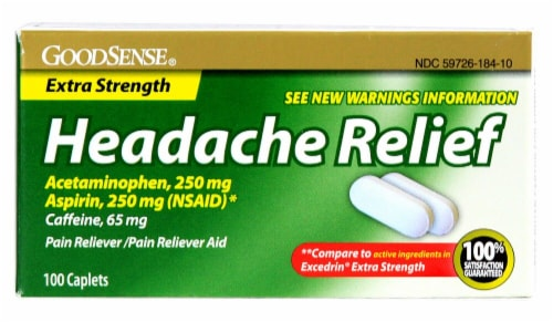 Good Sense Headache Relief Extra Strength Perspective: front