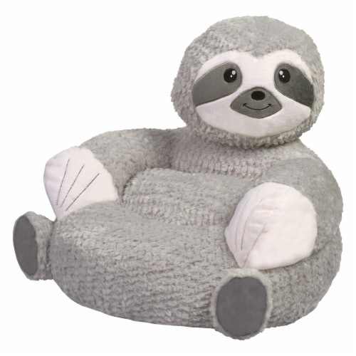 Trend-Lab 103406 21 x 19 x 19 in. Childrens Plush Sloth Character Chair, Gray Perspective: front