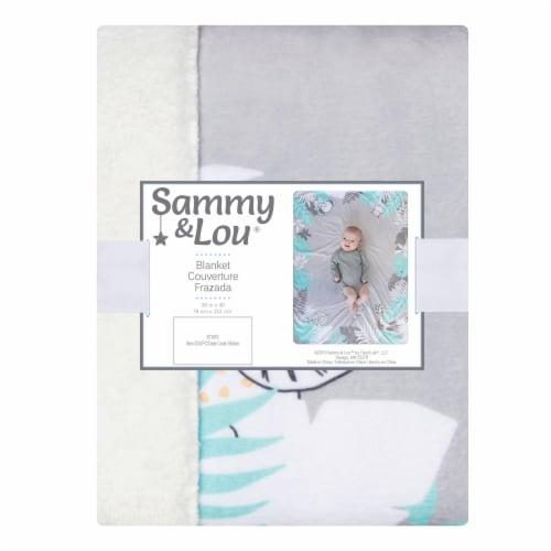 Sammy & Lou® Safari Baby Blanket Perspective: front