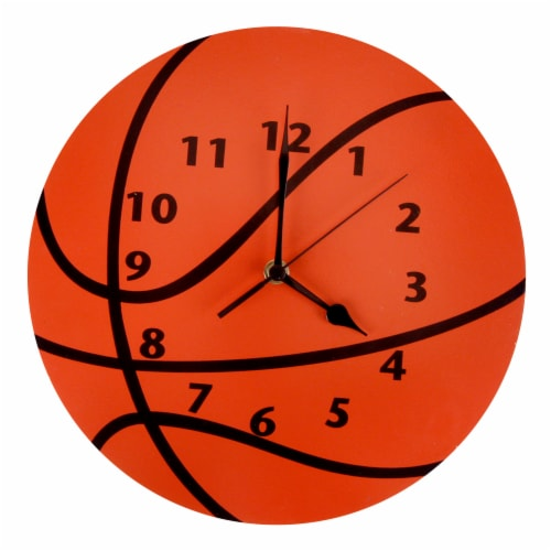 Trend Lab Basketball Wall Clock Perspective: front