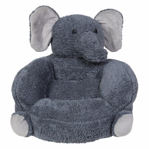 Trend Lab Plush Elephant Character Chair Perspective: front