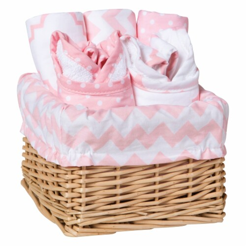 Trend Lab Sky Baby Feeding Gift Set - Pink Perspective: front