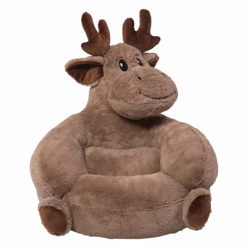 Trend Lab Children's Plush Moose Character Chair Perspective: front
