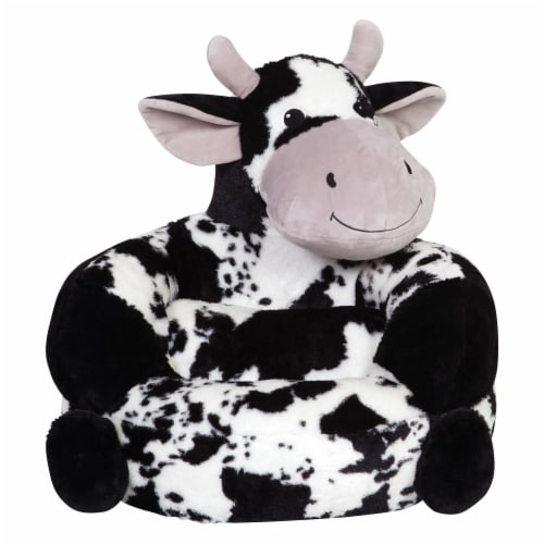 Trend Lab Children's Plush Cow Character Chair Perspective: front