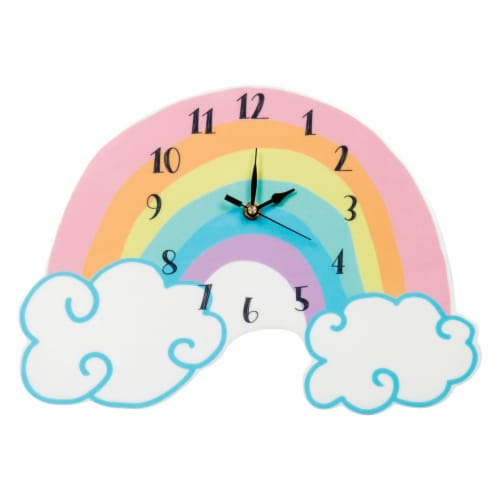 Trend Lab Rainbow Wall Clock Perspective: front