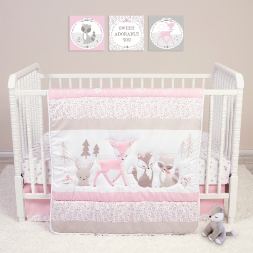 Sammy & Lou Sweet Forest Friends Crib Bedding Set Perspective: front