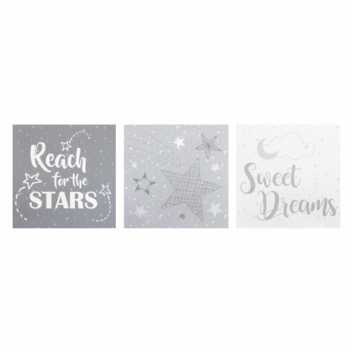 Trend Lab Moon and Stars Canvas Wall Art - 3 Pack Perspective: front
