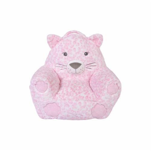 Cuddo Buddies Pink Leopard Plush Chair Perspective: front